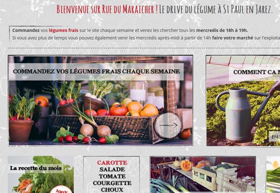 Site e-commerce pour des légumes frais