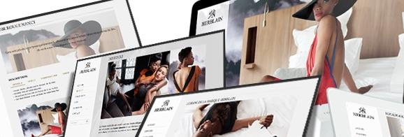 identité graphique site web Herblain